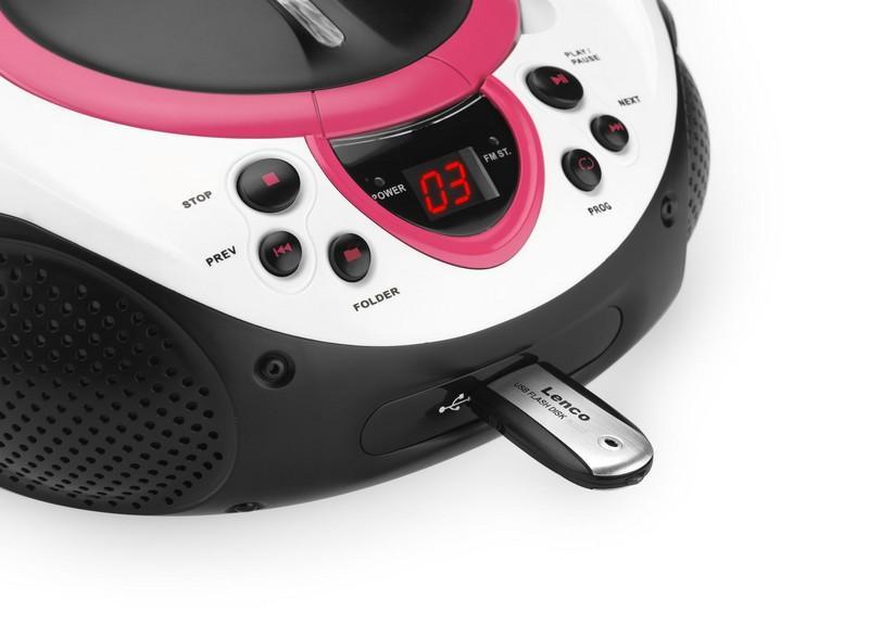 Lenco SCD-38 USB růžové