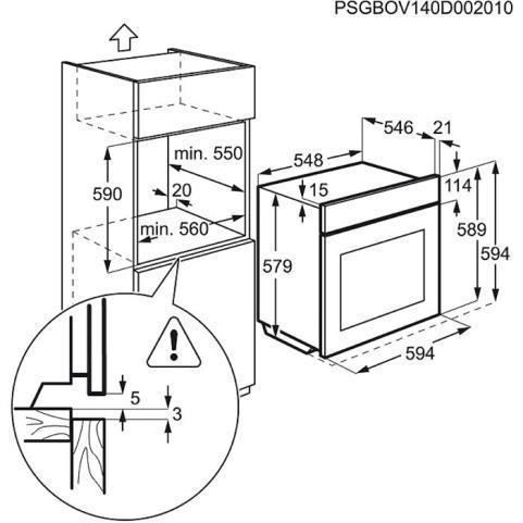Electrolux EOA45555OX