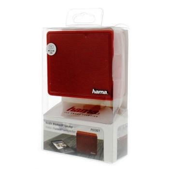 "Hama 173122 mobilní Bluetooth reproduktor ""Pocket"", červený"