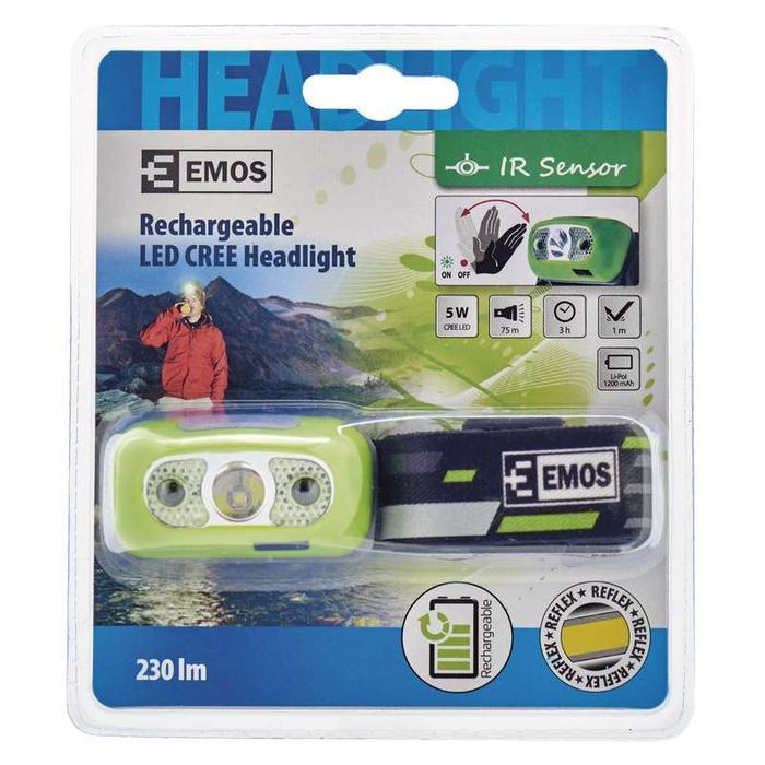 Emos P3534 LED CREE 5W nabíjecí čelovka