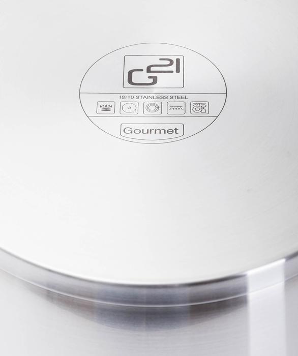 G21 Pánev Gourmet Magic 28 cm s poklicí, nerez