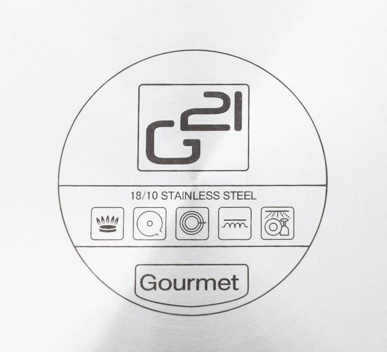 G21 Sada nádobí Gourmet Miracle s cedníkem, 9 dílů, nerez/greblon + CASHBACK 150Kč