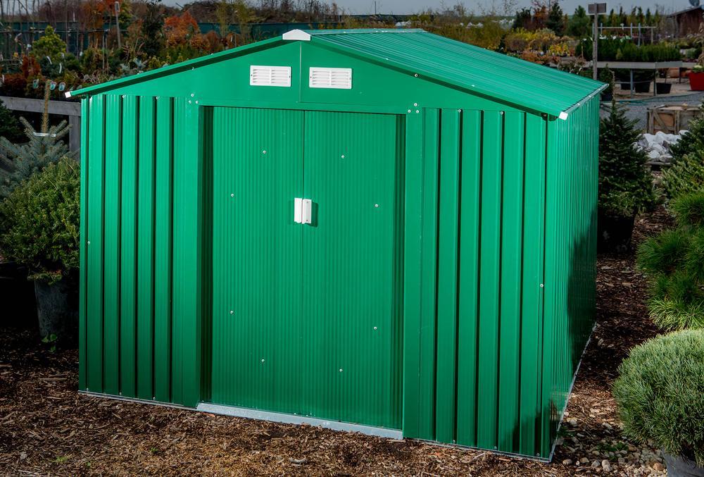 G21 Zahradní domek GAH 327 - 191 x 171 cm, zelený