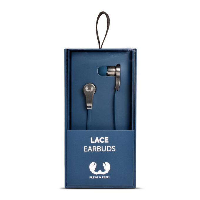 Fresh´n Rebel 48002800 Lace Earbuds sluchátka, Indigo, indigově modrá