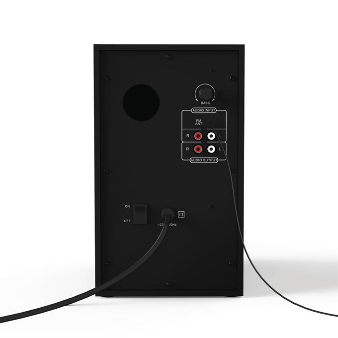 Hama 173143 2.1 Sound systém PR-2180 s rádiem, černá/červená
