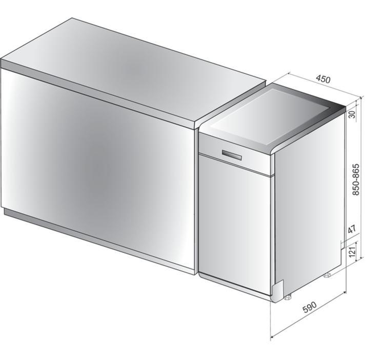 Whirlpool WSFO 3O34 PF + Vysavač na okna Concept CW 1000, Tablety JAR PLATINUM PLUS na půl roku zdarma