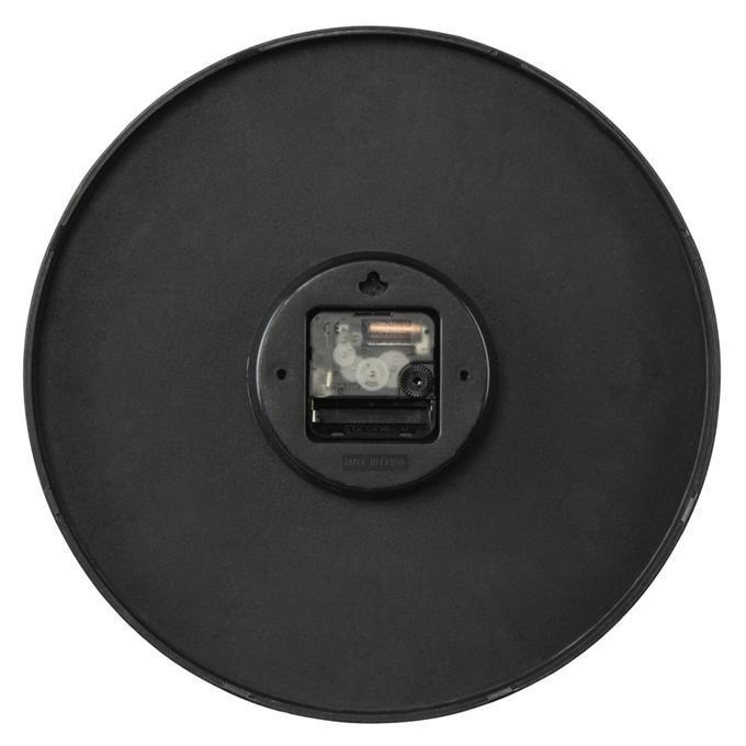 Hama 176902 Elegance nástěnné hodiny, průměr 30 cm, tichý chod, černé/bílé